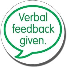 Verbal feedback